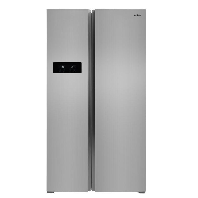 美的(Midea) BCD-516WKM(E) 516升 风冷纤薄电脑控温对开门冰箱(泰坦银)