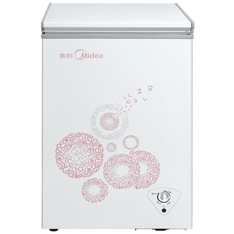 美的(Midea)BD/BC-96KM(E) 96升 冷藏冷冻转换冷柜 节能省电(悦动粉)