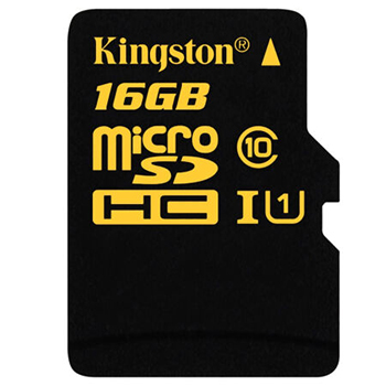 金士顿(Kingston)16GB 90MB/s TF(Micro SD) Class10 UHS-I高速存储卡 土豪金