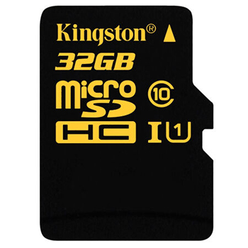 金士顿(Kingston)32GB 90MB/s TF(Micro SD) UHS-I Class10 高速存储卡 土豪金
