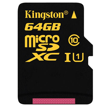 金士顿(Kingston)64GB 90MB/s TF(Micro SD) Class10 UHS-I高速存储卡 土豪金